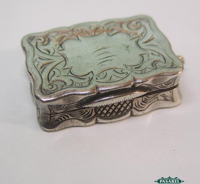 Pasarel Antique Sterling Silver Vinaigrette By Hilliard