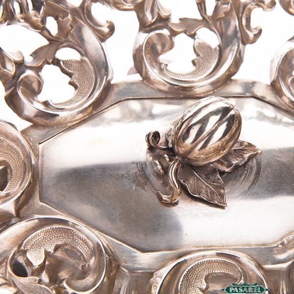 Pasarel Antique Austrian Silver Ethrog Bowl Vienna 1859