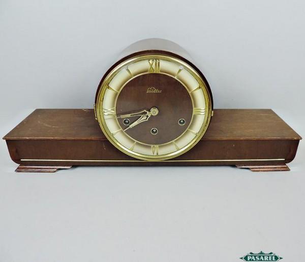 Pasarel Lauffer Art Deco German Wood Mantel Clock 1930 S