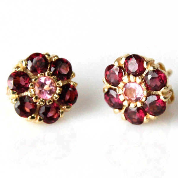 phab in white earrings gold tourmaline stud pink main lrg nile blue detailmain