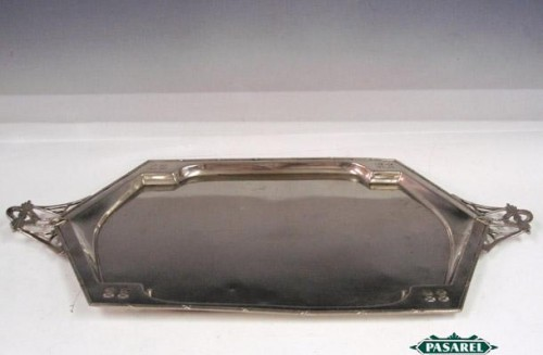 Pasarel Argentor Austrian Silver Plated Serving Tray Ca