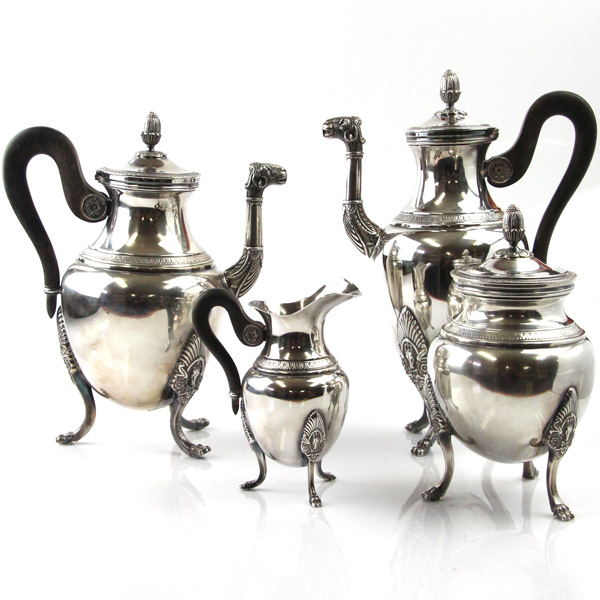 Pasarel Christofle Empire Malmaison 4pcs Silver Plated